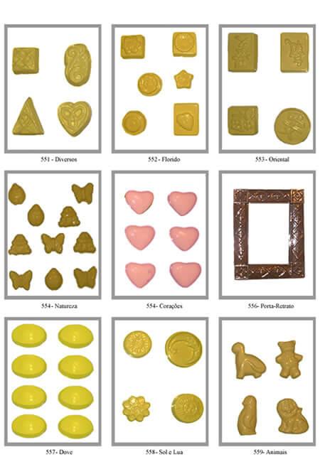 Formas Profissionais de Chocolate