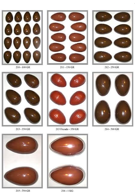 Forma de Ovos de Chocolate