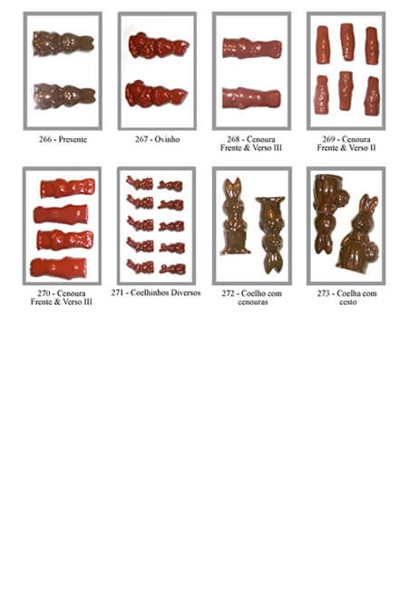 Formas de Coelo de Páscoa para Chocolate